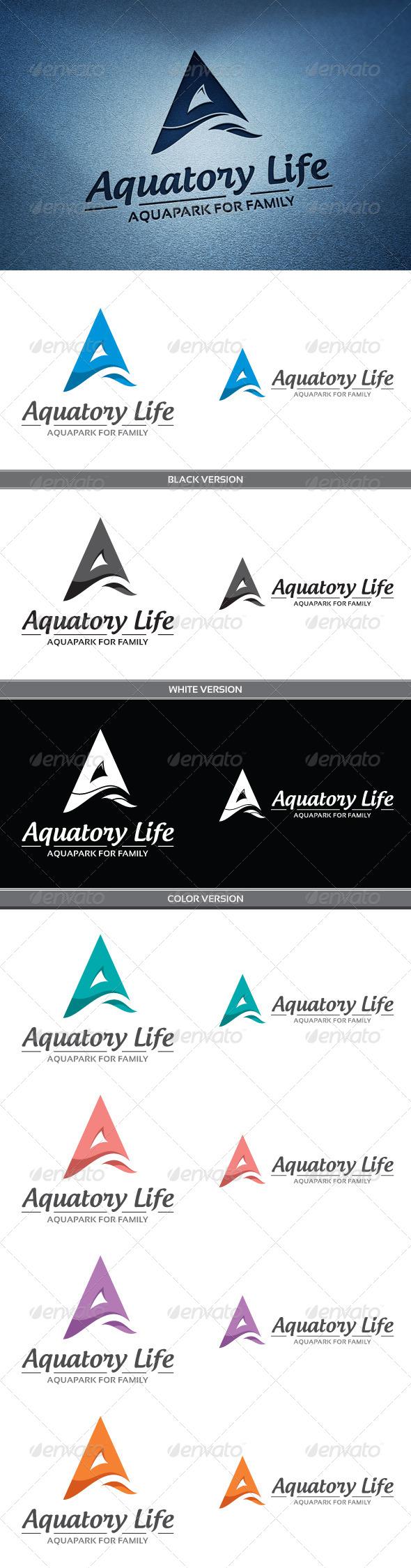 Aquatory Life - Letters Logo Templates