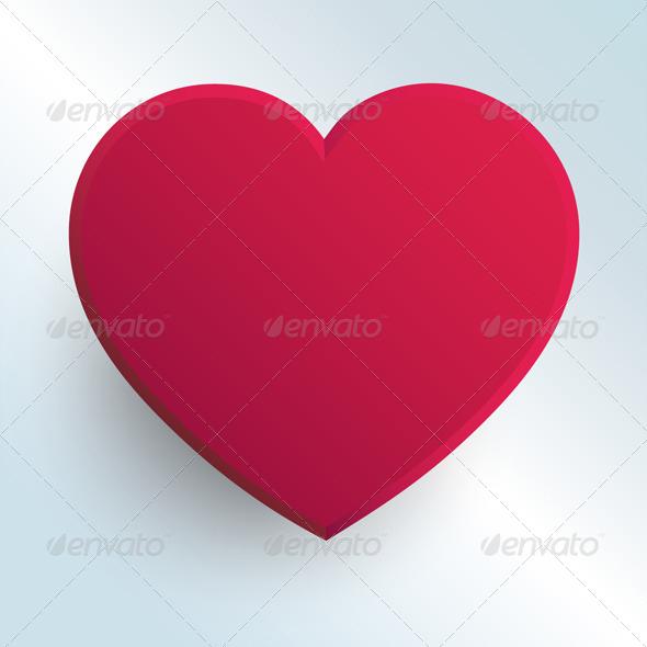 Hot Pink Heart - Valentines Seasons/Holidays