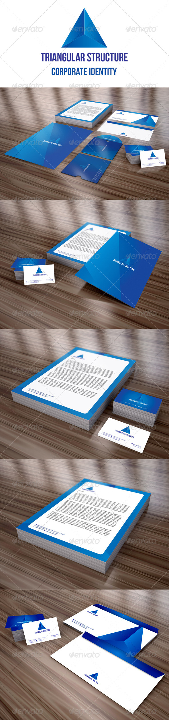 Triangular Structure Corporate Identity Package - Stationery Print Templates