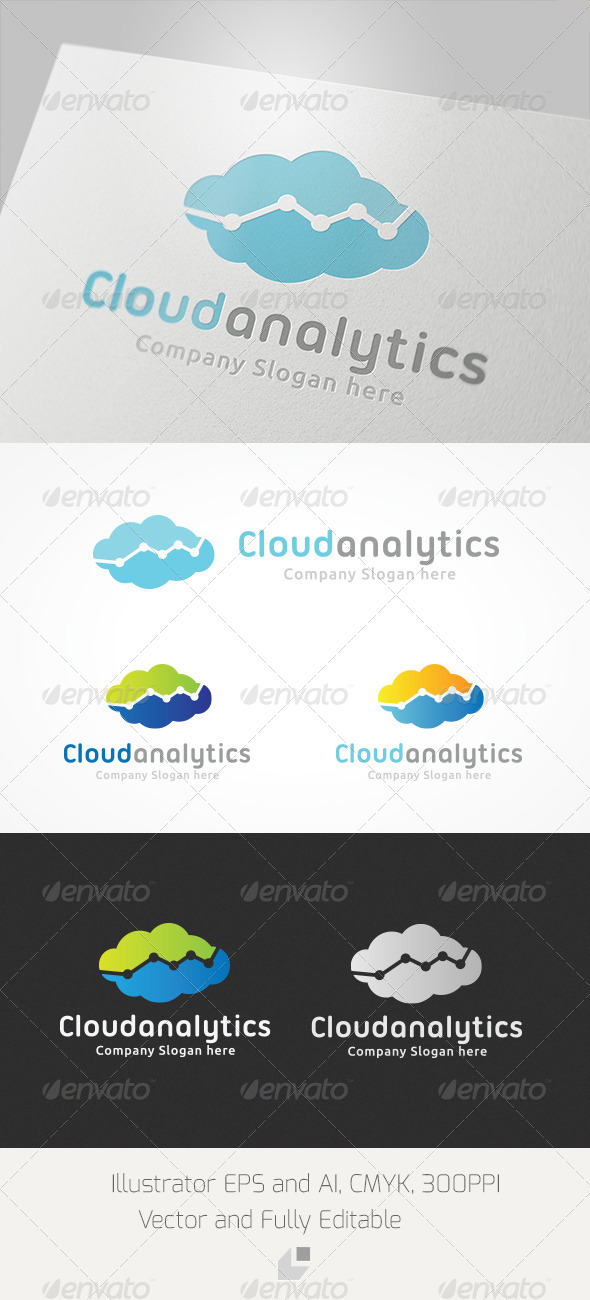 Cloud Analytic Logo - Nature Logo Templates