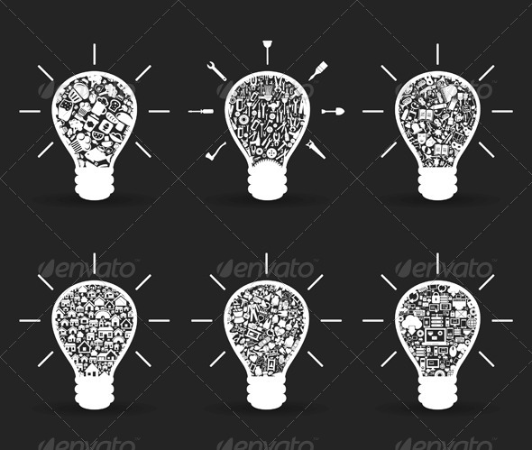 Set of Bulbs - Miscellaneous Vectors