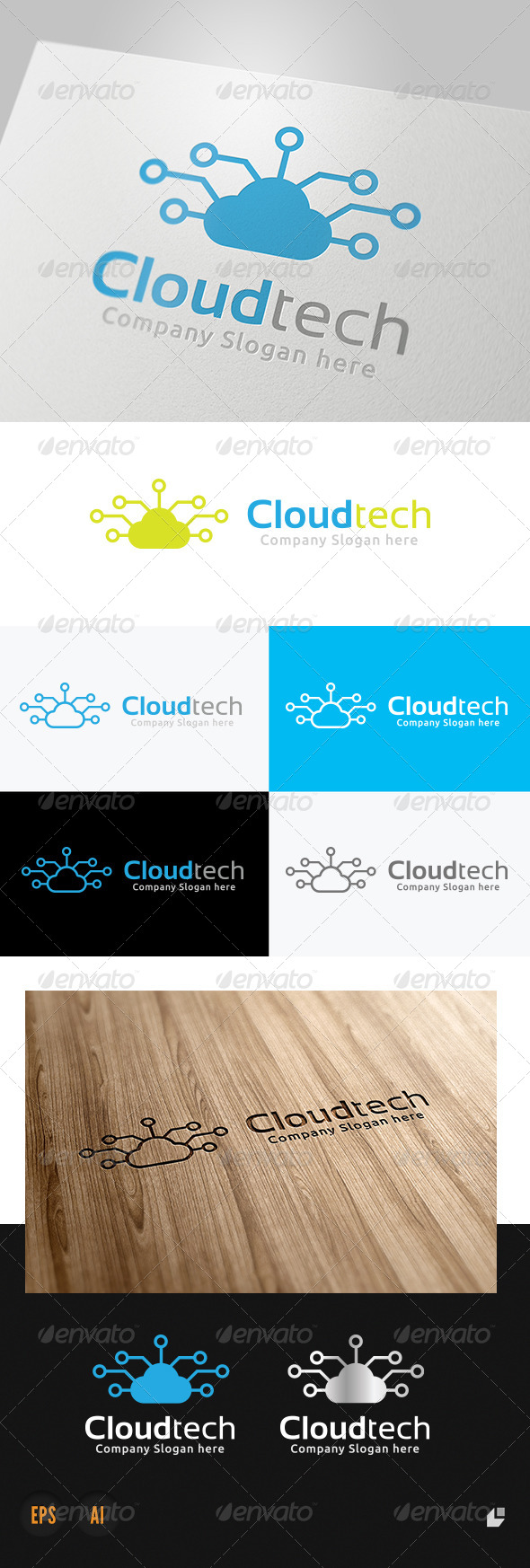 Cloud Technology Logo - Nature Logo Templates