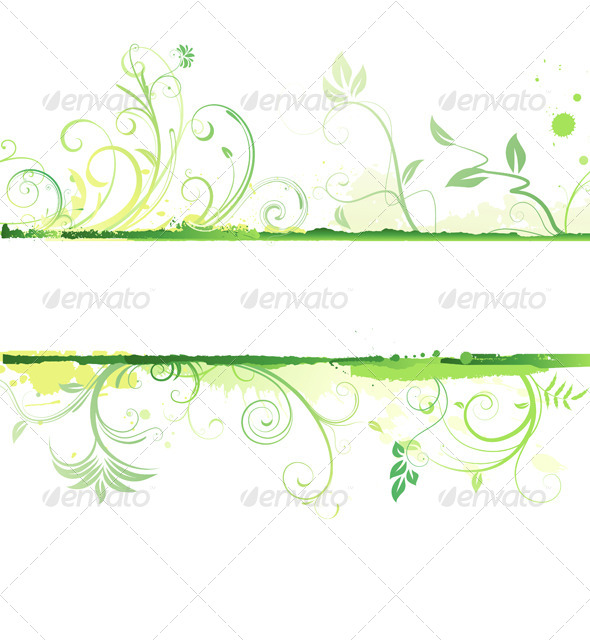 Floral Decorative Banner - Borders Decorative