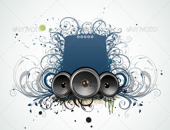 Decorative Music Frame - Borders Decorative