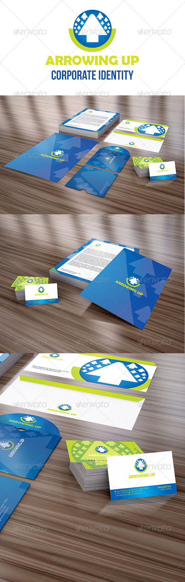 Arrowing Up Corporate Identity Package - Stationery Print Templates