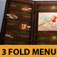 Modern Restaurant Menu Tri-Fold - GraphicRiver Item for Sale