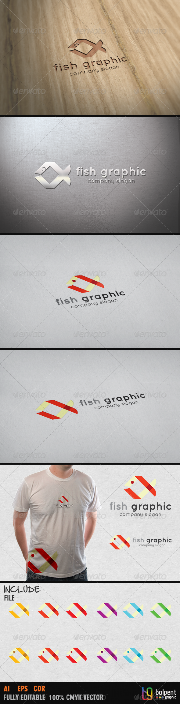 Fish Graphic Logo Template - Animals Logo Templates