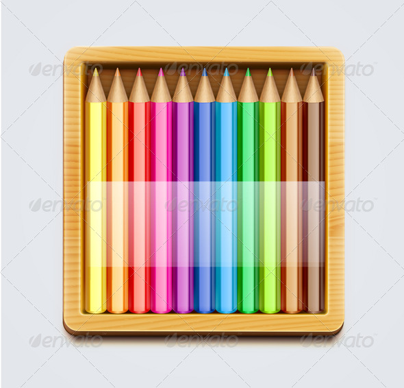 Color Pencils - Objects Vectors