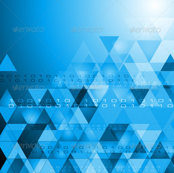 Vector Hi-Tech Bright Background - Backgrounds Decorative