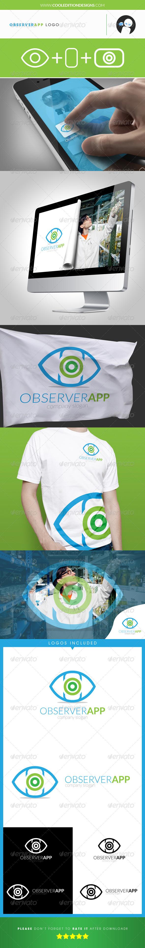Observer App - Logo Template - Objects Logo Templates