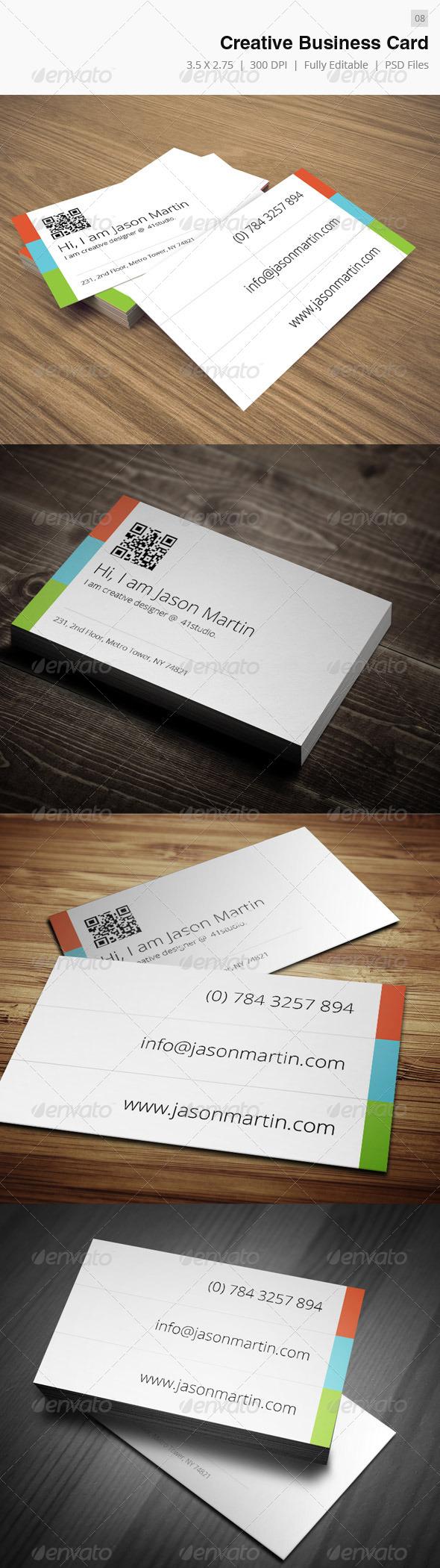 Simple Creative Business Card - 08 - Creative Business Cards