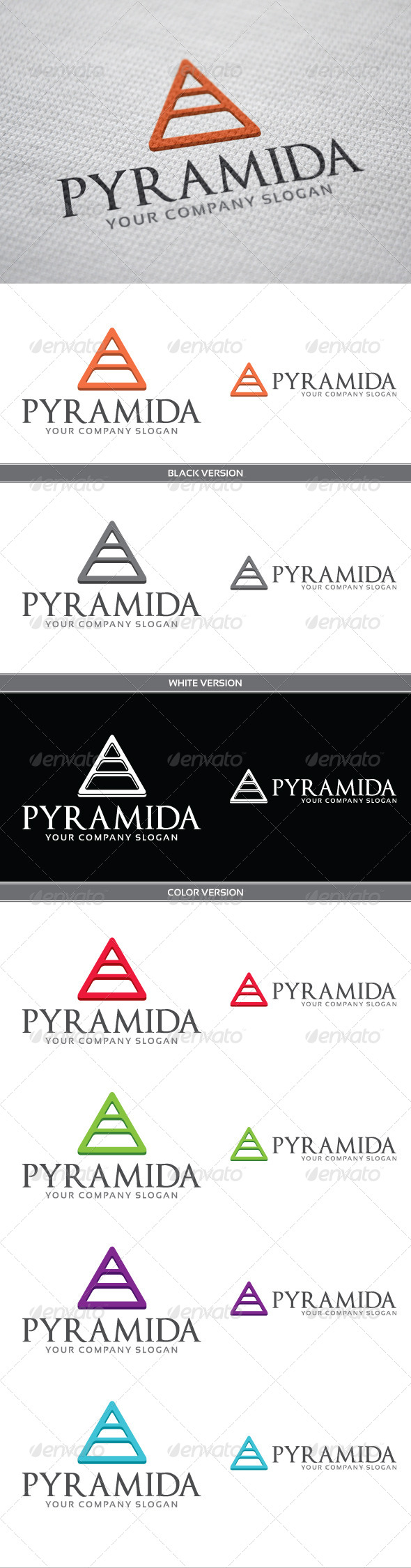 Pyramida - Objects Logo Templates