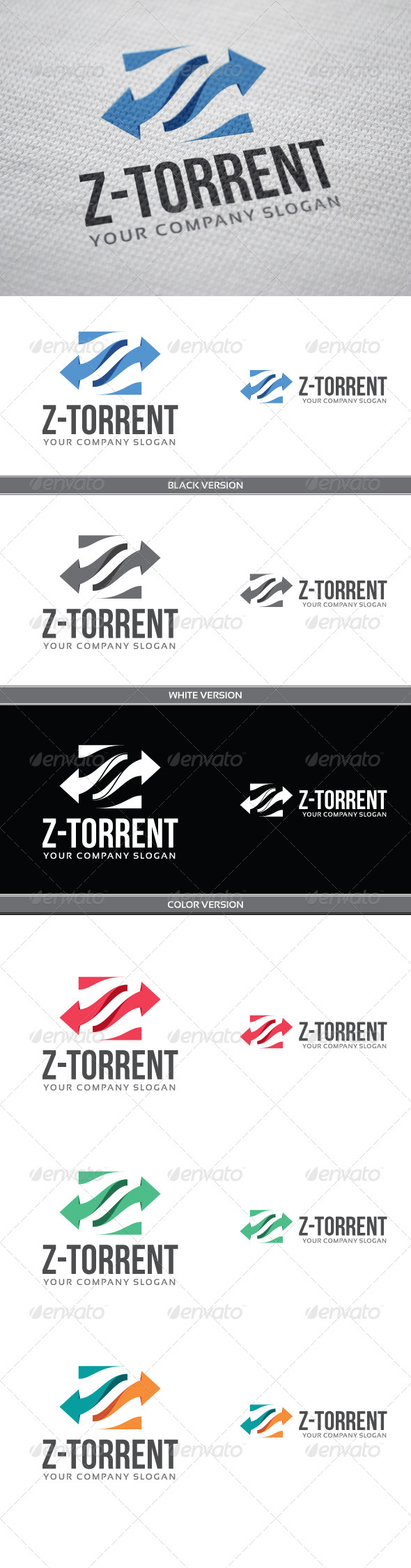 Z-torrent - Letters Logo Templates