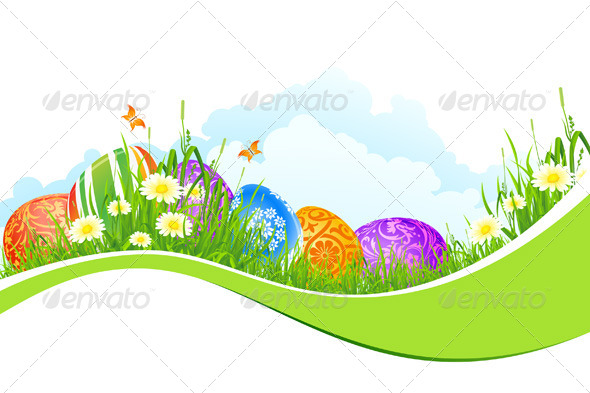 Beautiful Easter Holiday Background - Seasons/Holidays Conceptual