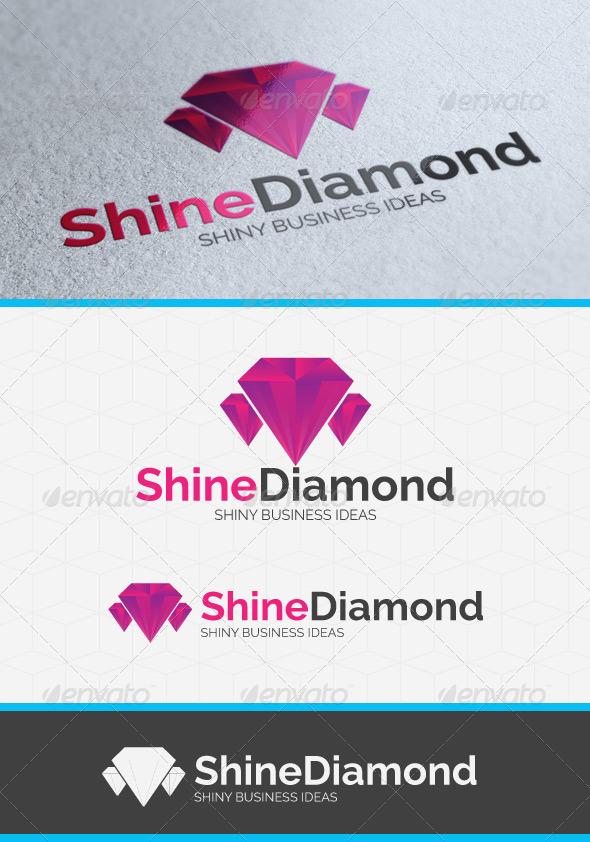 Shining Diamond Logo Template - Objects Logo Templates