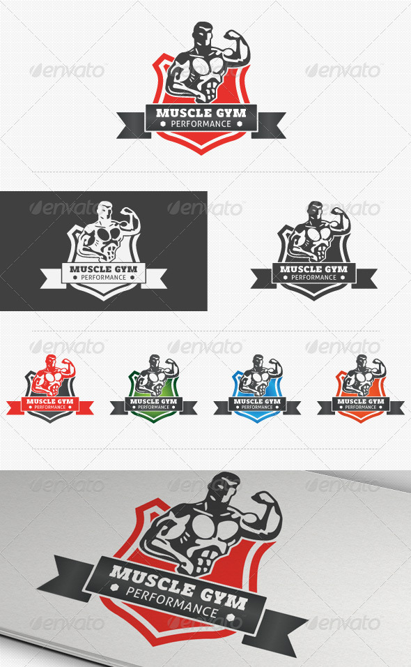 Fitness Performance Gym Logo - Humans Logo Templates