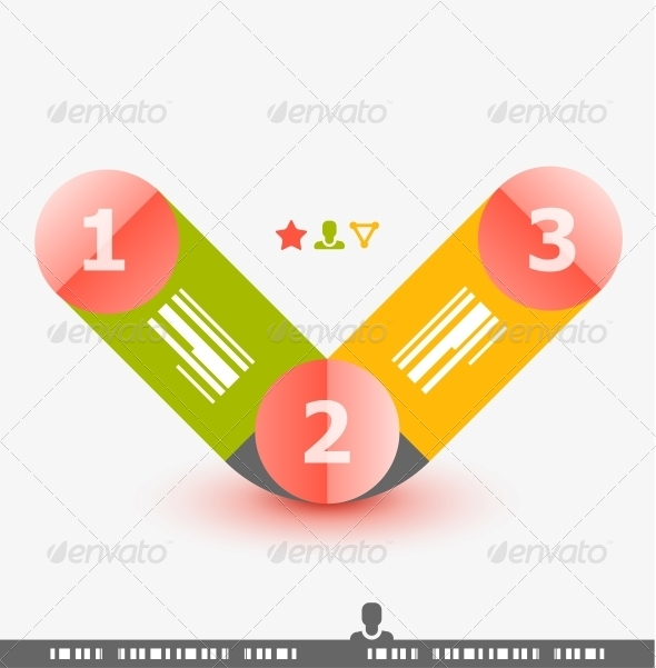 Numbered Banner Design Template - Web Technology