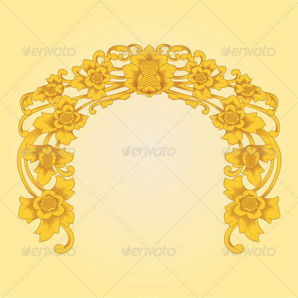 Flower Ornament - Flourishes / Swirls Decorative