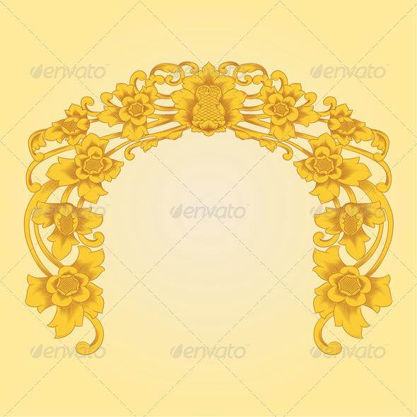 Flower Ornament - Flourishes / Swirls Decorative