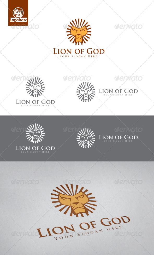 Lion of God Logo Template - Animals Logo Templates