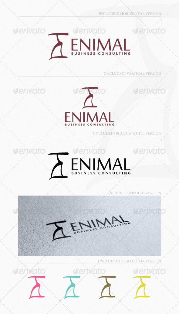 Enimal Logo - Letters Logo Templates