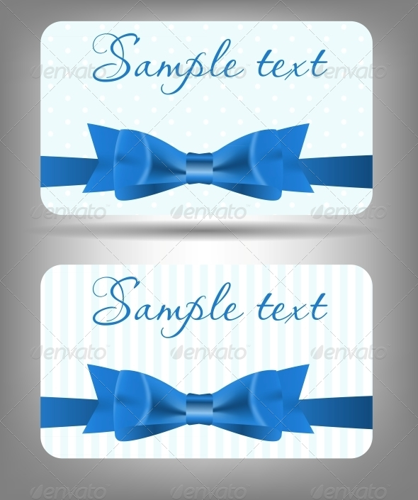 Card with Bow and Ribbon - Abstract Conceptual