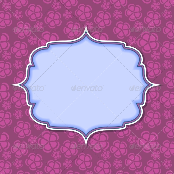 Frame on Retro Vintage Seamless Background - Abstract Conceptual