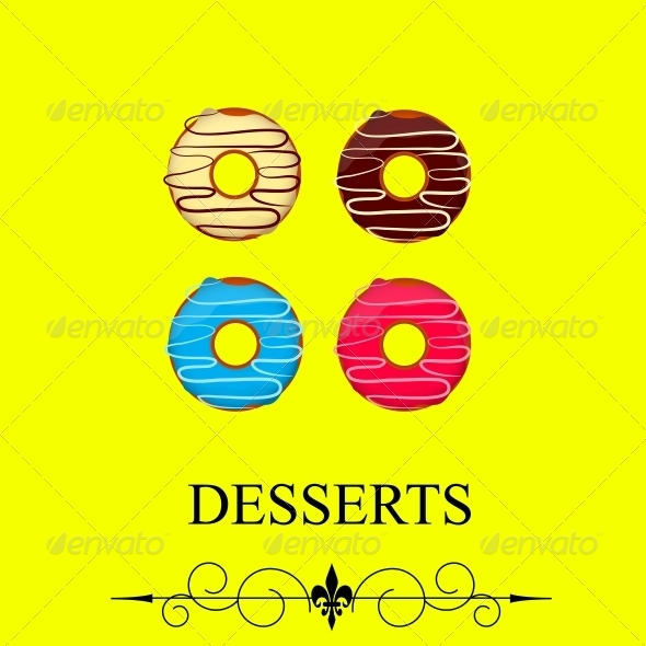 Vector Dessert Menu - Abstract Conceptual