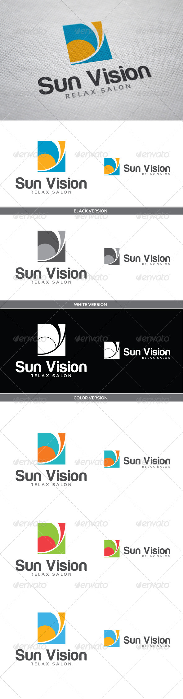 Sun Vision - Vector Abstract