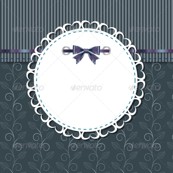 Vintage Frame with Bow - Abstract Conceptual