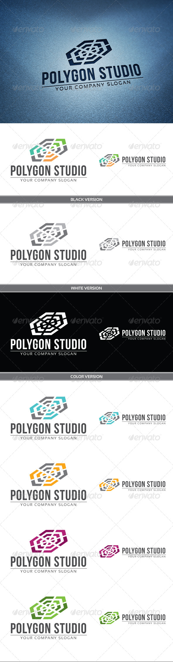 Polygon Studio Logo - Objects Logo Templates
