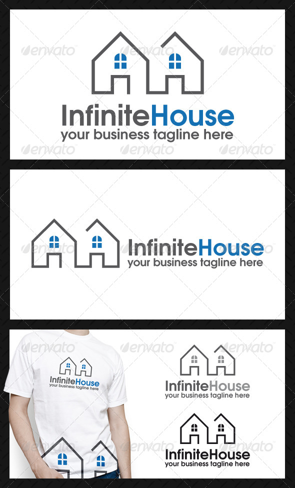 Infinite House Logo Template - Buildings Logo Templates