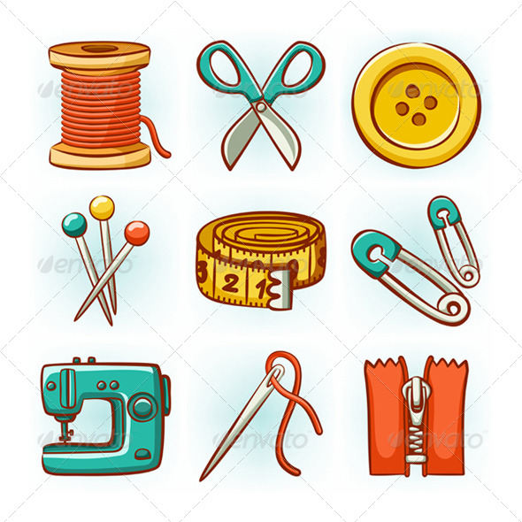 Sewing Set - Objects Vectors