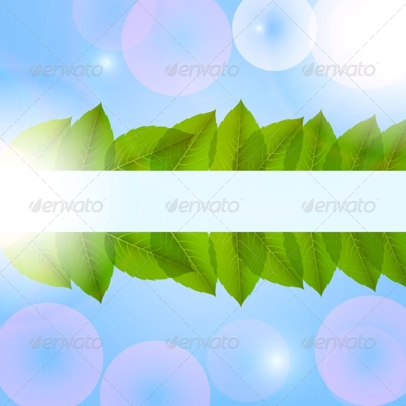 Leaves in the Sky. Vector. - Flowers & Plants Nature