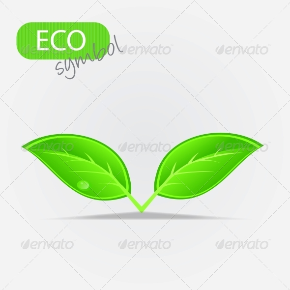 Environmental Icon with Plant - Flowers & Plants Nature