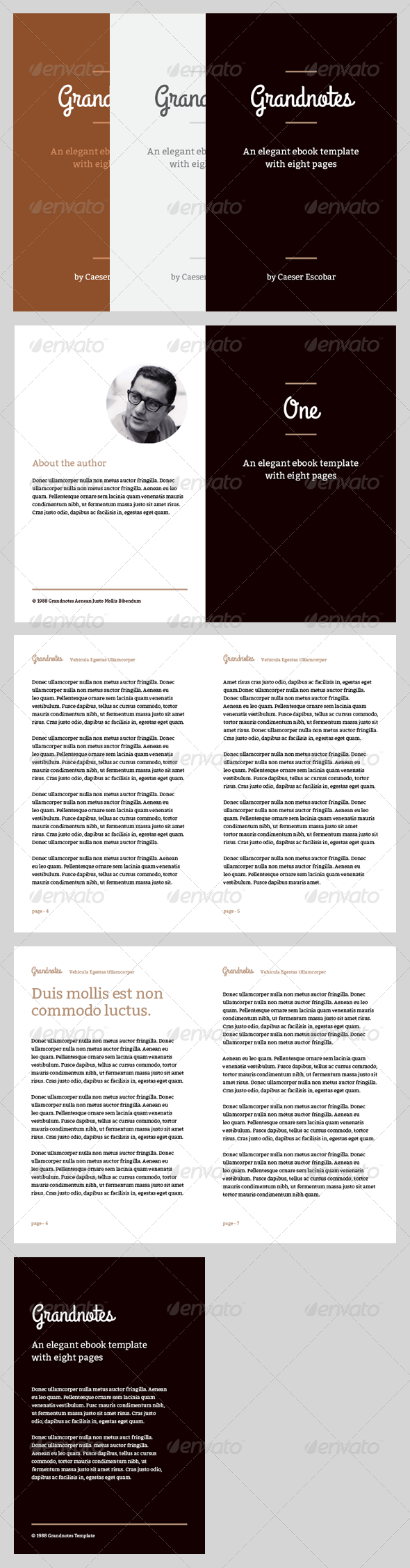 Grandnotes - eBook Template or Print Book - Miscellaneous Print Templates