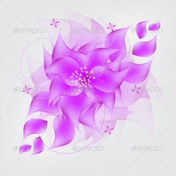 Romantic Flower vector Background - Flowers & Plants Nature