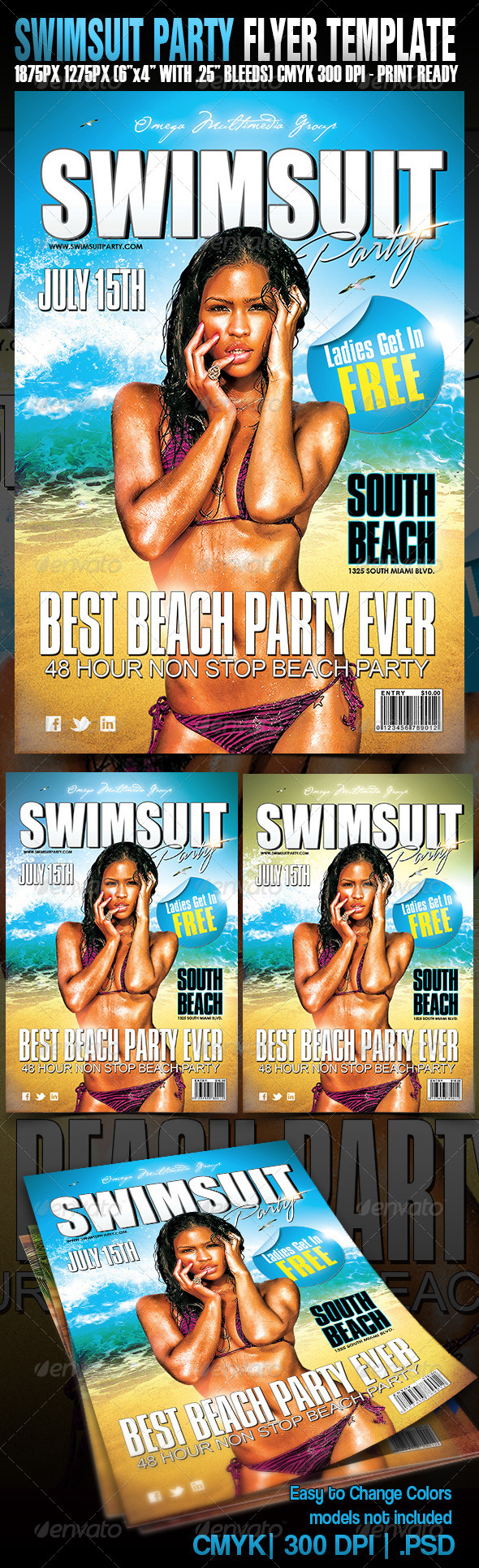 Swimsuit Party - Events Flyers