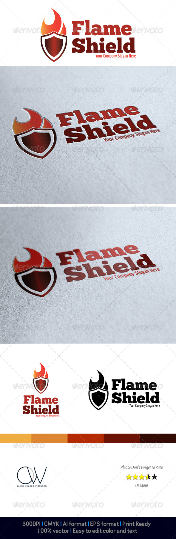 Flame Shield Logo - Logo Templates