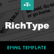 Rich Typography Email Template Nulled