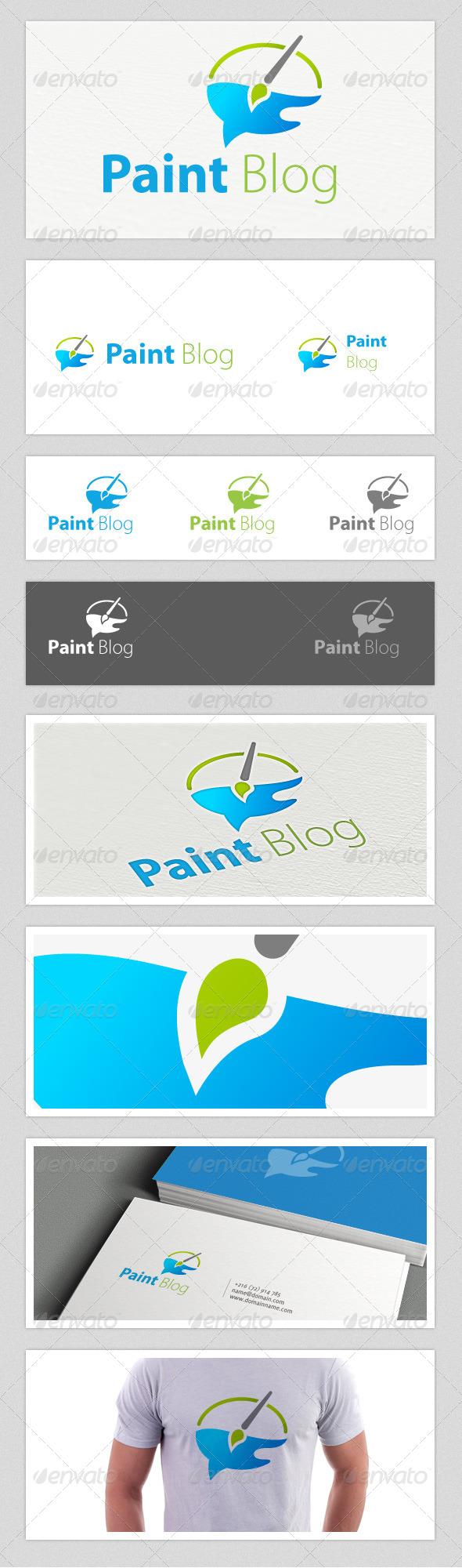 Paint Blog Logo - Abstract Logo Templates