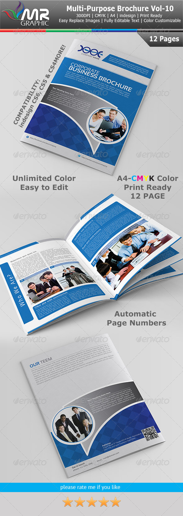 Multipurpose Business Brochure Template Vol-10 - Corporate Brochures