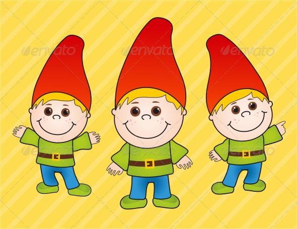Boy Gnome - Characters Vectors