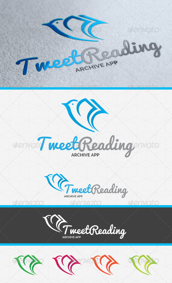 Tweet Reading Logo Template - Animals Logo Templates