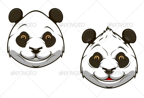 Funny chinese panda bear mascot - Animals Characters