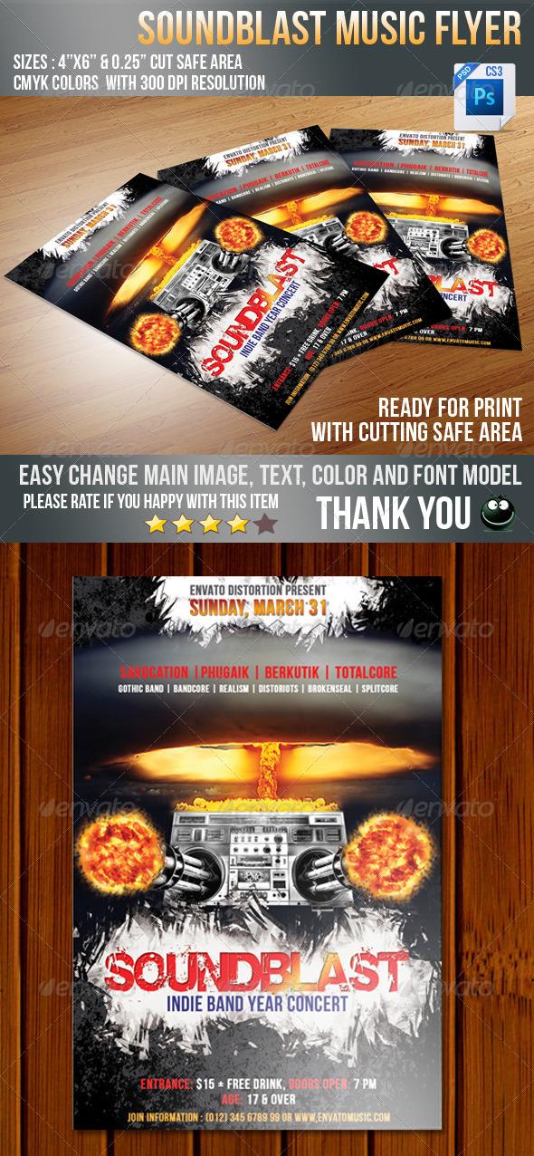 Sound Blaster Flyer - Concerts Events