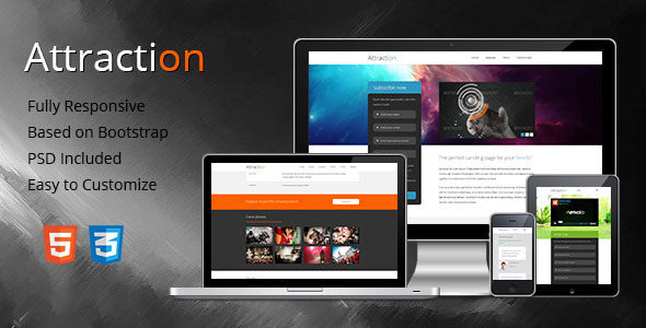 Attraction - Responsive Landing Page - Landing Pages Marketing