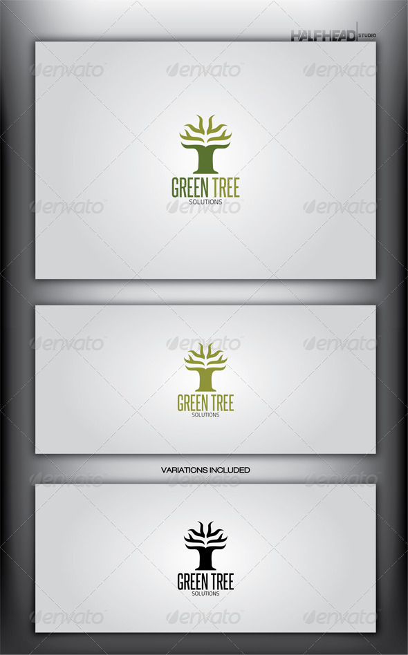 GREEN TREE Logo Template - Letters Logo Templates
