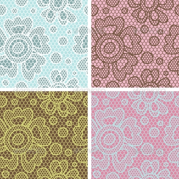 Lace Fabric Seamless Patterns. - Patterns Decorative