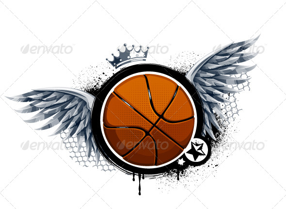 Grunge Image with Basketball - Vectors